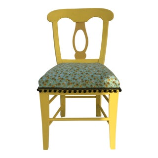 Mid-Century Biedermeier Style Painted Wood Accent/Side Chair For Sale