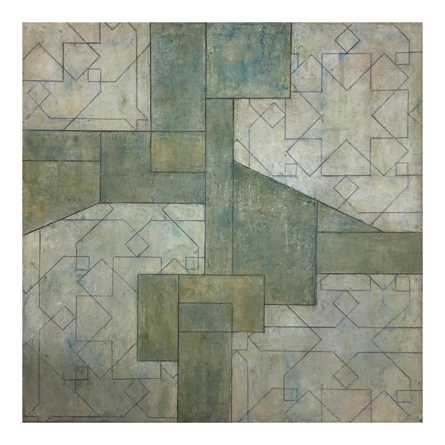 Ancient/Modern Series Abstract Geometric Oil Painting For Sale