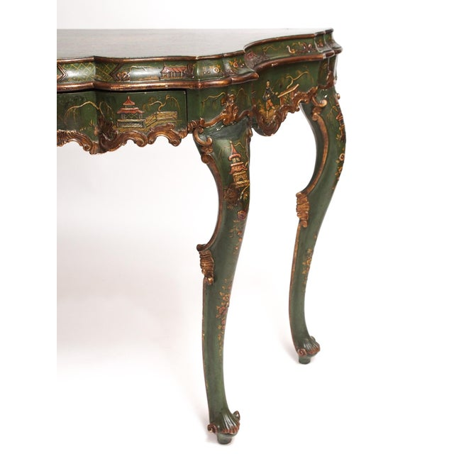 Chinoiserie Decorated Console Table with a Drawer For Sale In New Orleans - Image 6 of 11