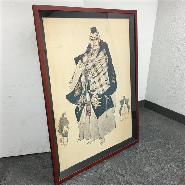Framed Japanese Elder Print - Image 7 of 7