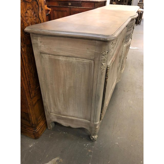 Wood 19th Century French Louis XV Graphite Washed Enfilade For Sale - Image 7 of 8