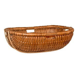 19th C Split Oak Basket For Sale