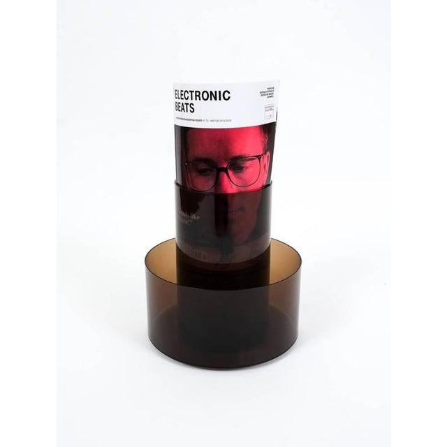 Italian Lucite Cini&Nils Minimalistic Rotating Magazine Rack For Sale - Image 3 of 5