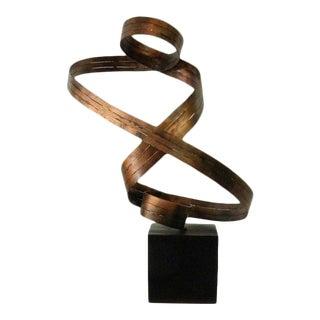 Vintage Metal Modern X-Large Sculpture For Sale