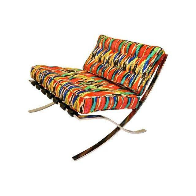 Mid-Century Modern Barcelona Style Chairs - Pair - Image 6 of 7