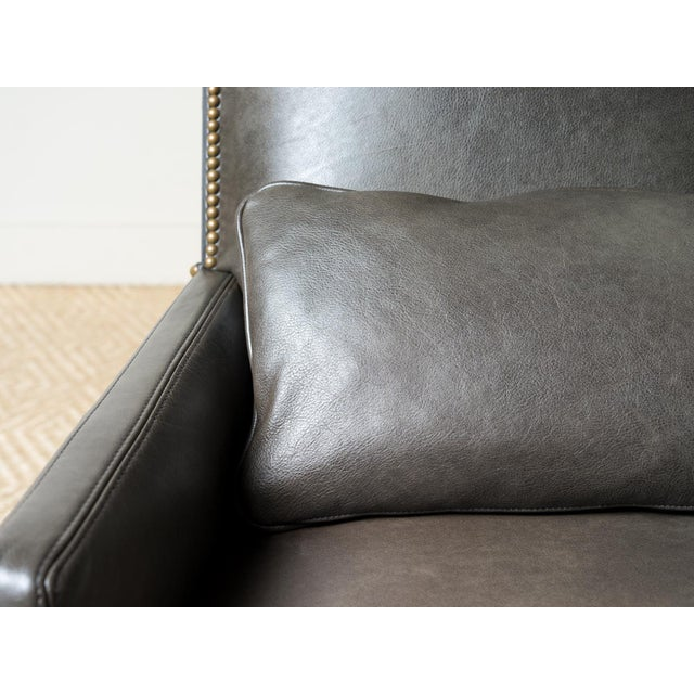 Modern Lee Industries Leather Webbed Back Chair For Sale - Image 3 of 7