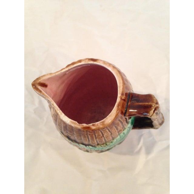 Antique Majolica Cream Pitcher - Image 4 of 6