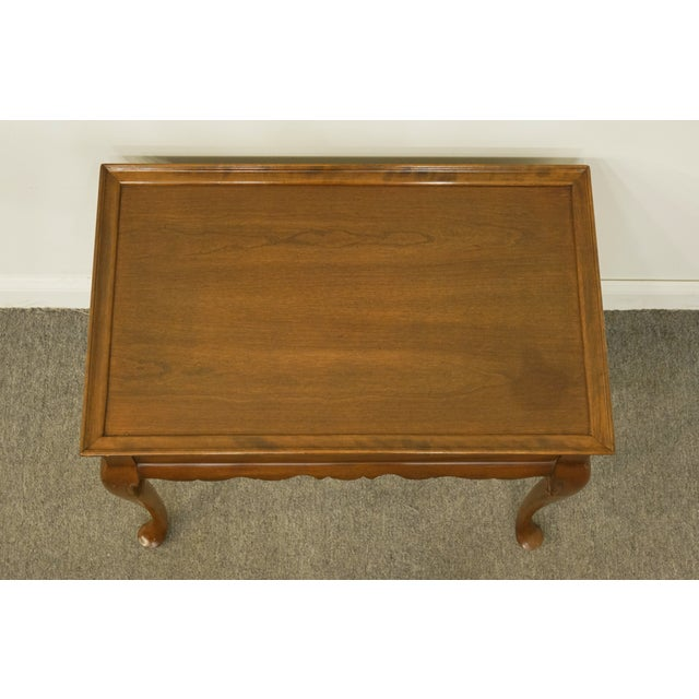 Ethan Allen 20th Century Georgian Ethan Allen Accent End / Tea Table For Sale - Image 4 of 13