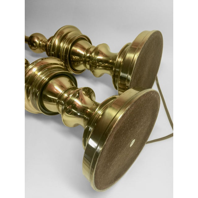 Vintage Stiffel Brass Lamps - A Pair - Image 3 of 4