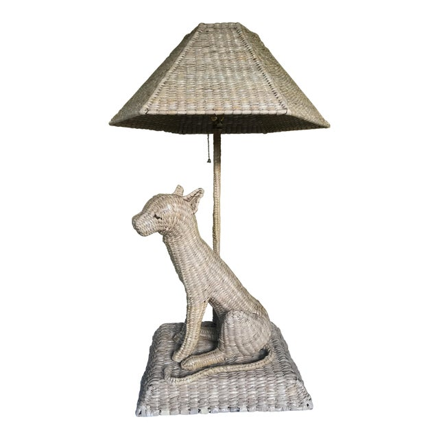 Mario Lopez Torres Cheetah Table Lamp and Shade For Sale