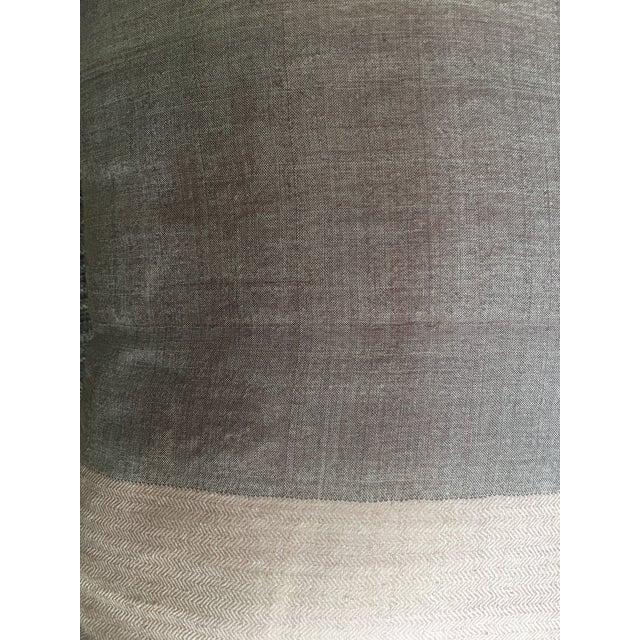 West Elm Mauve & Lavender Silk Pillow For Sale - Image 5 of 5