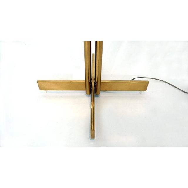 1970s Bronze and Alabaster Casella Floor Lamp, 1970s For Sale - Image 5 of 5