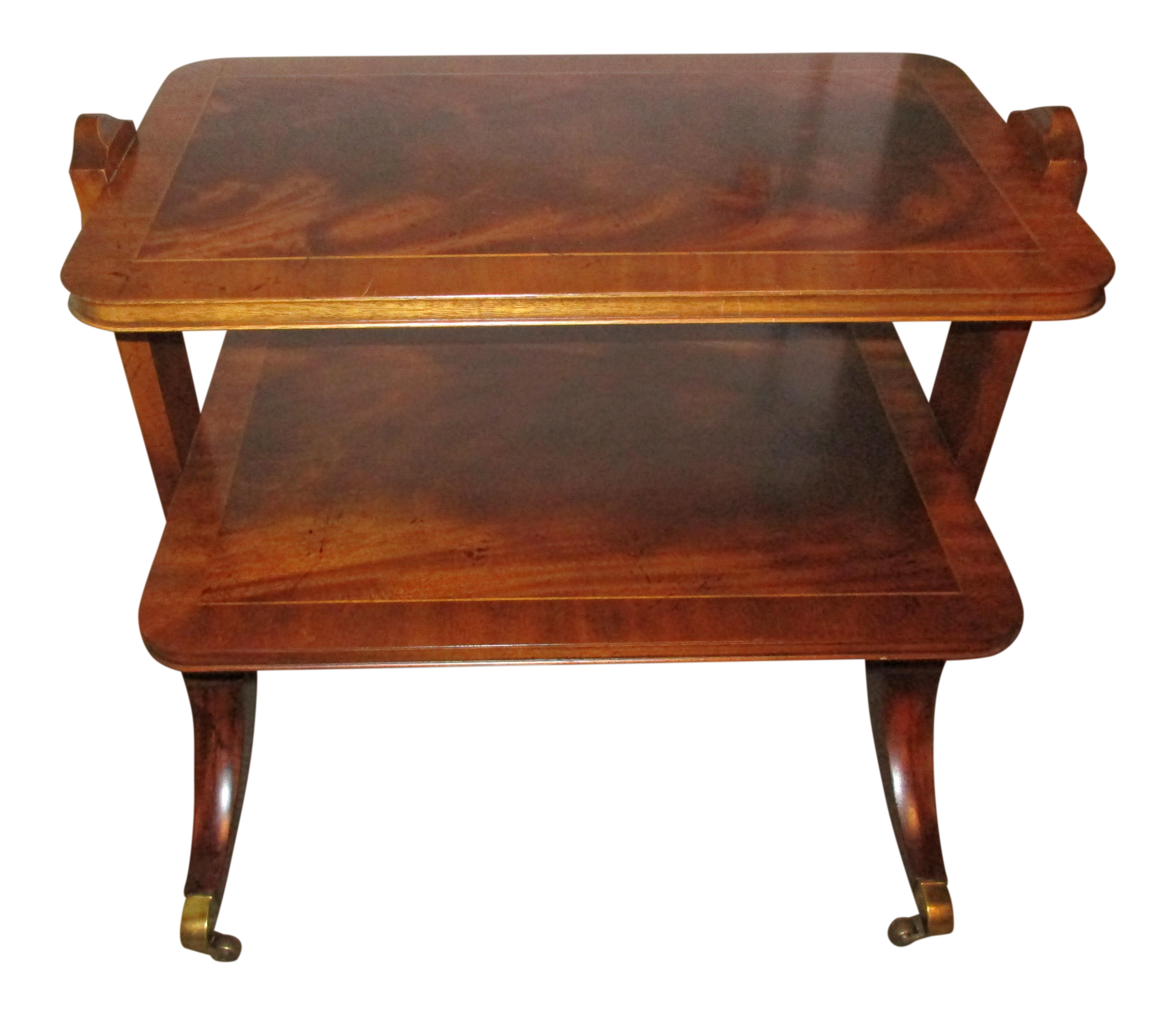 Baker Furniture Ornate Two Tiered Side Table   Image 1 Of 13