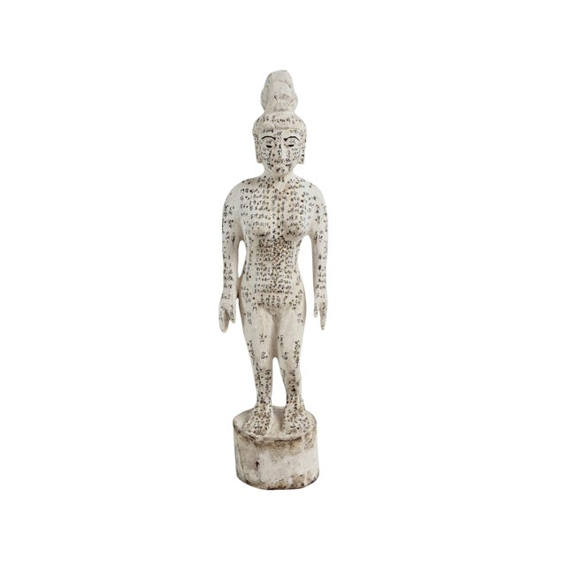 Chinese Acupuncture X-Small Female Statue For Sale