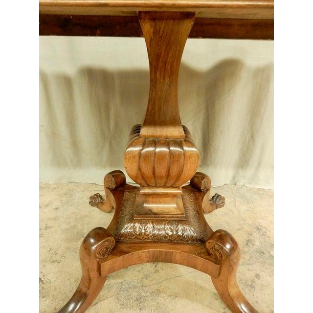 19th Century Italian Walnut Pedestal Table For Sale - Image 5 of 8