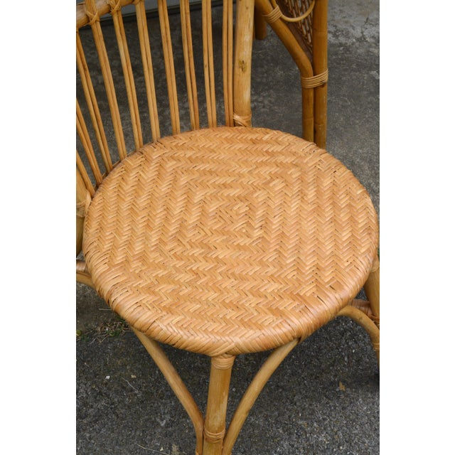 Wicker 1950s Wicker Rattan Desk and Chair - a Set For Sale - Image 7 of 12