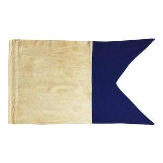 "Framed Signal Flag ""W"" For Sale"