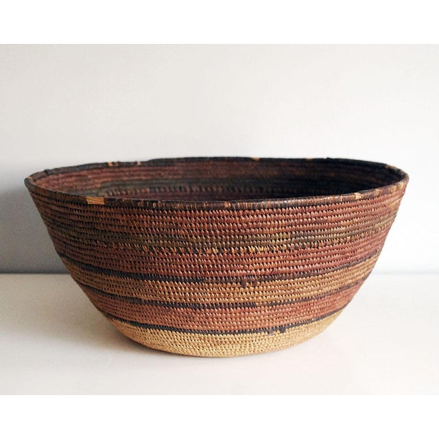 6bc02229743 Mid-Century Hupa Tribe Native American Basket For Sale - Image 10 of 10