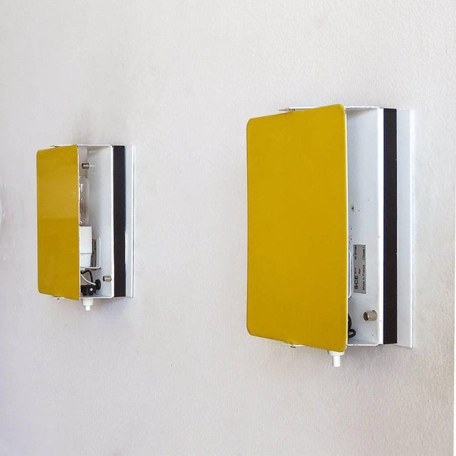 1960s Charlotte Perriand Cp-1 Wall Lights Yellow For Sale - Image 5 of 10