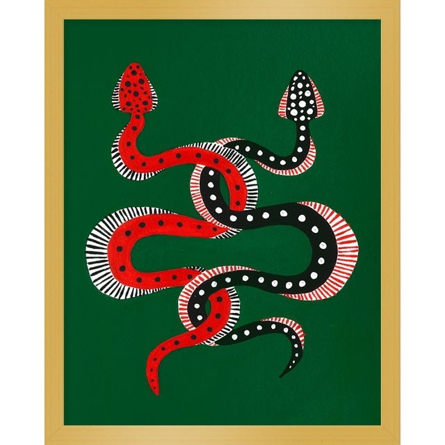 "Contemporary Small ""Sushi & Cheeseburger the Snakes"" Print by Willa Heart, 16"" X 20"" For Sale - Image 3 of 3"