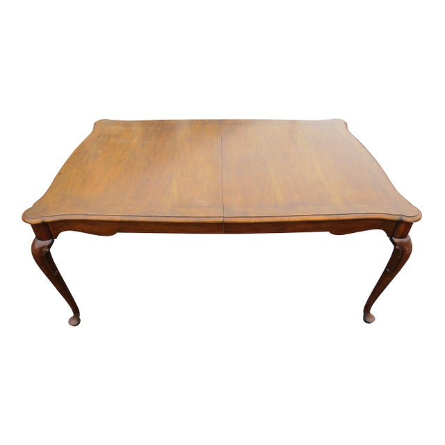 """Vintage Baker Furniture Co """"Collector's Choice"""" Queen Anne Dining Table With Leaves For Sale - Image 11 of 11"""