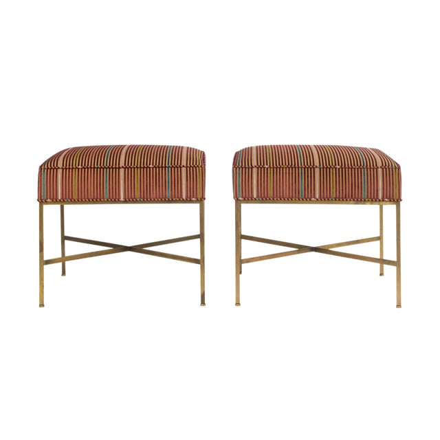 Paul McCobb Square Benches - a Pair For Sale