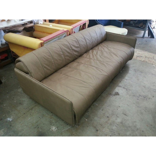 1986 Mid-Century Modern De Sede Leather Sofa For Sale - Image 11 of 12