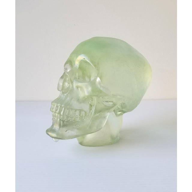 Contemporary Paul Marioni Sand-Casted Glass Skull For Sale - Image 3 of 8