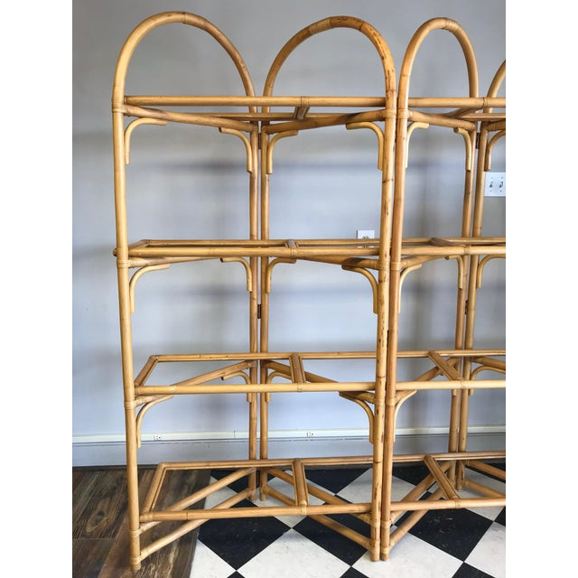 1960s Palm Beach Style Rattan Shelving Unit For Sale - Image 5 of 12
