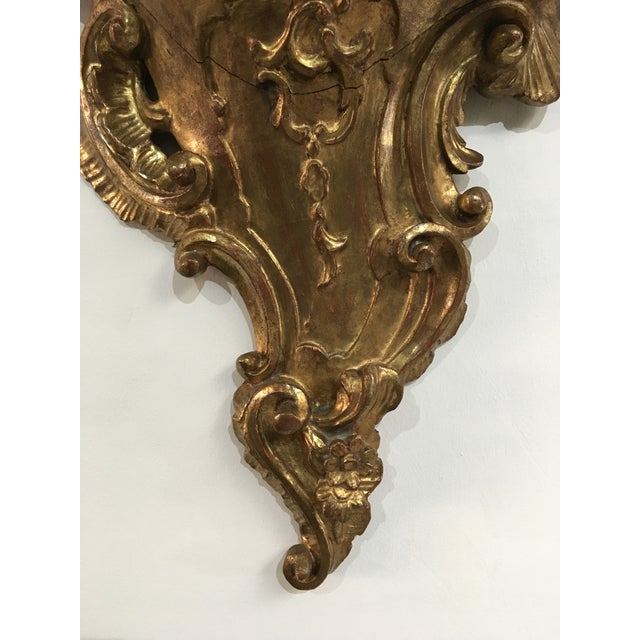 Wood 19th Century Rococo Gilt Wall Shelves - a Pair For Sale - Image 7 of 12