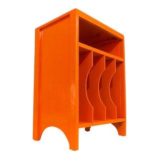 Orange Wood Turntable & Vinyl Record Album Rack