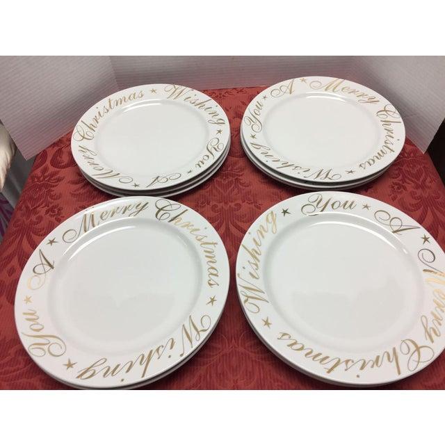 wishing you a merry christmas plates set of 12 for sale image - Christmas Plates