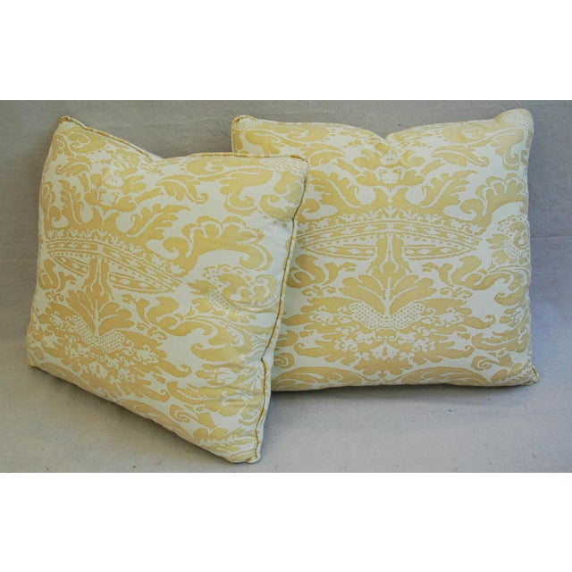 Mariano Fortuny Italian Corone Crown Feather/Down Pillows - Pair - Image 9 of 10