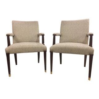 21st Century Ferguson Copeland Arm Chairs- A Pair For Sale