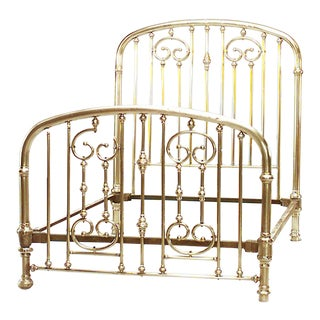 American Victorian Brass Full Bed For Sale