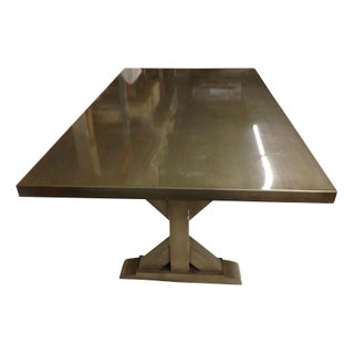 Custom Zinc Topped Dining Table For Sale