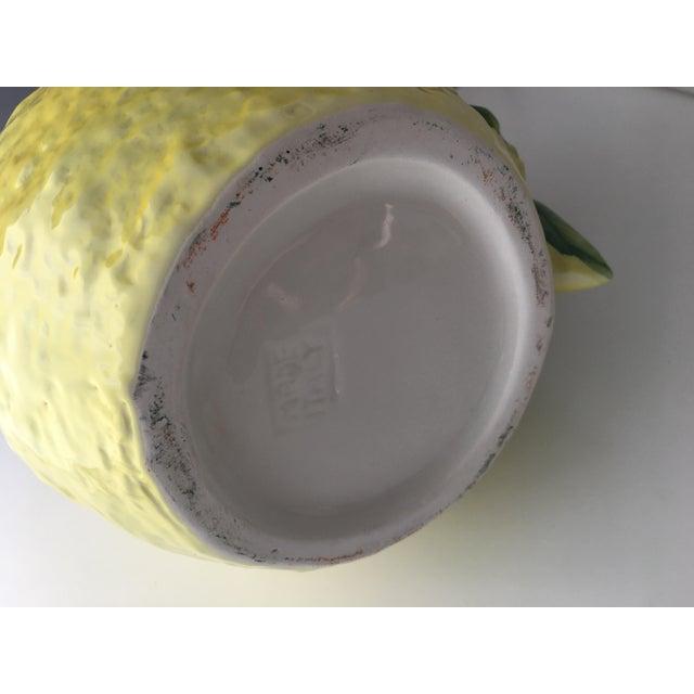 Italian Ceramic Lemon Pitcher For Sale - Image 4 of 5