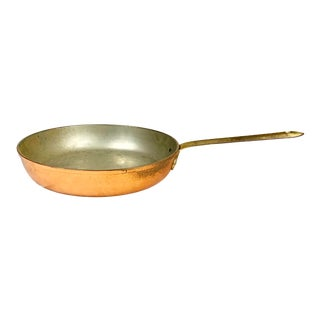 Vintage Tagus Copper and Brass Pan For Sale