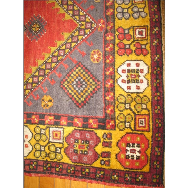 Small Vintage Tribal Design Rug - 3′7″ × 6′3″ For Sale - Image 4 of 5