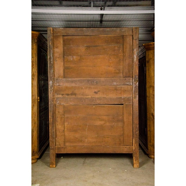 19th Century Louis XV Antique French Carved Armoire For Sale - Image 12 of 13