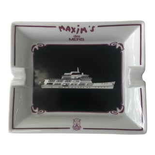 1970s Maxim's Des Mers Limoges Cigar Ashtray For Sale