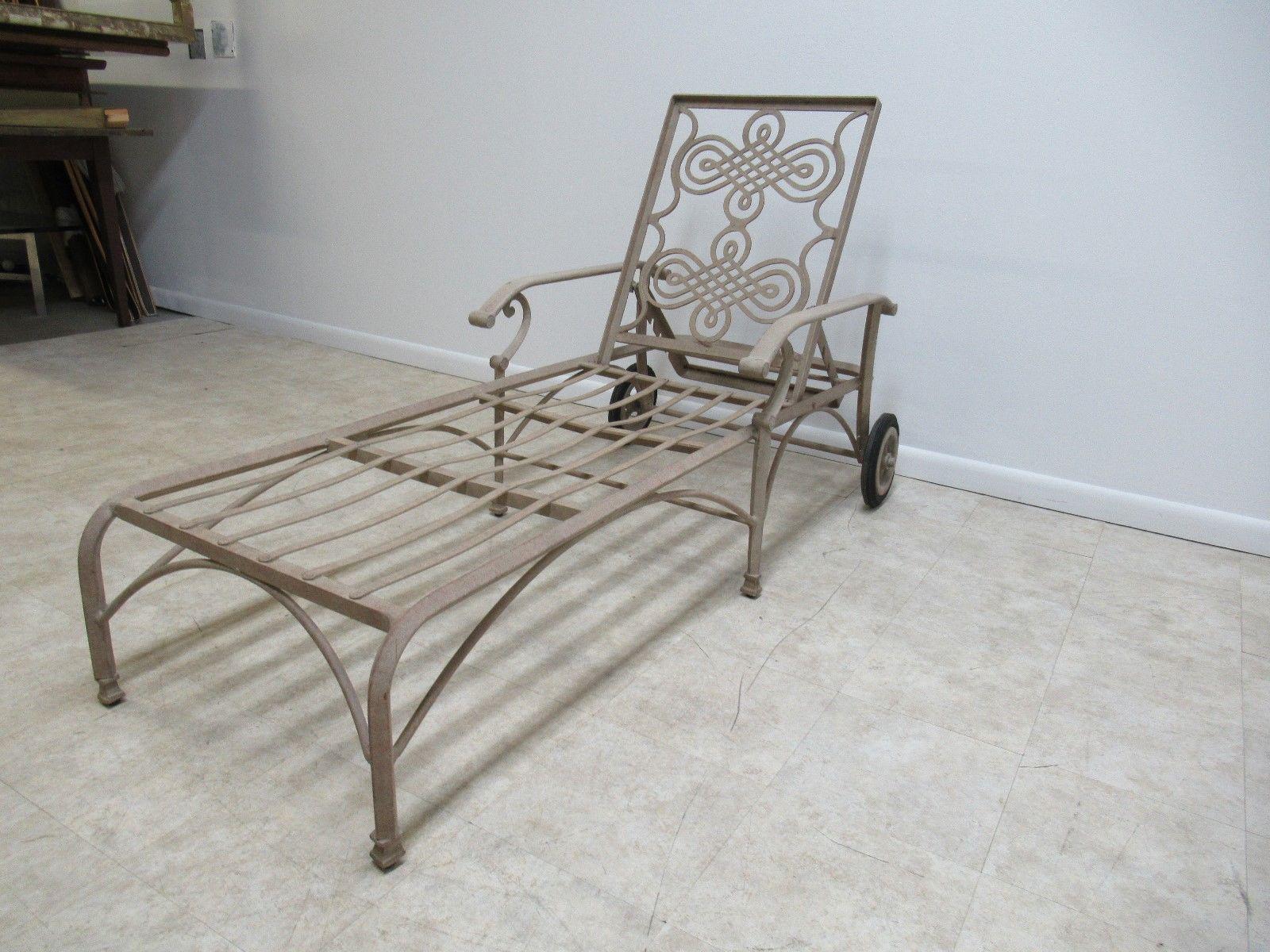 Landgrave Cast Classics Woodard Outdoor Patio Porch Chaise Lounge