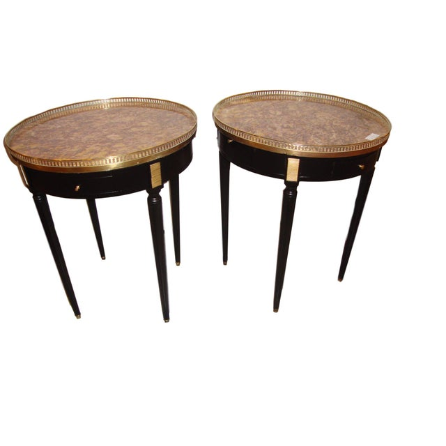 Louis XVI Style Bouillotte End Tables - A Pair For Sale - Image 11 of 11