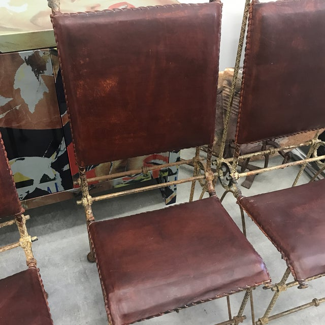 1980s Ilana Goor Dining Chairs - Set of 4 For Sale - Image 11 of 13