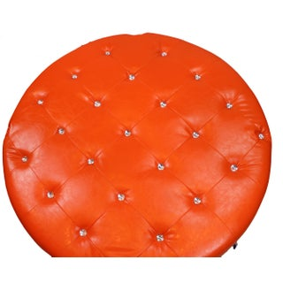Pasargad N Y Pu Orange Leather Ottoman Preview