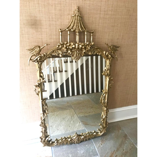 La Barge Chippendale Chinoiserie Pagoda Wall Mirror For Sale - Image 13 of 13