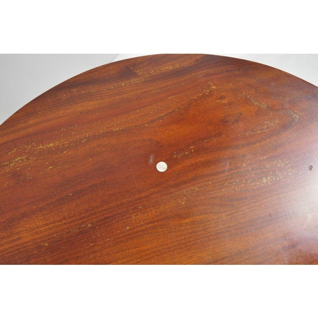 20th Century Queen Anne Style Tripod Mahogany Tilt Top Occasional Table For Sale - Image 9 of 11