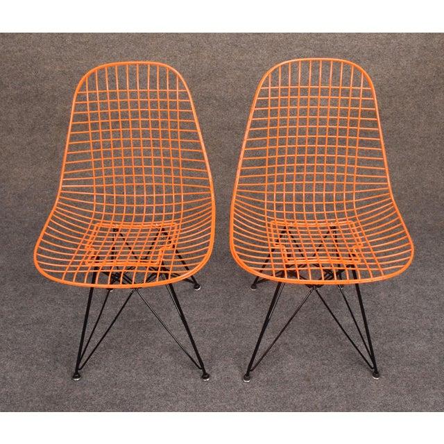 Vintage Herman Miller for Eamer Mid-Century Dkr Orange Chairs - Image 9 of 11