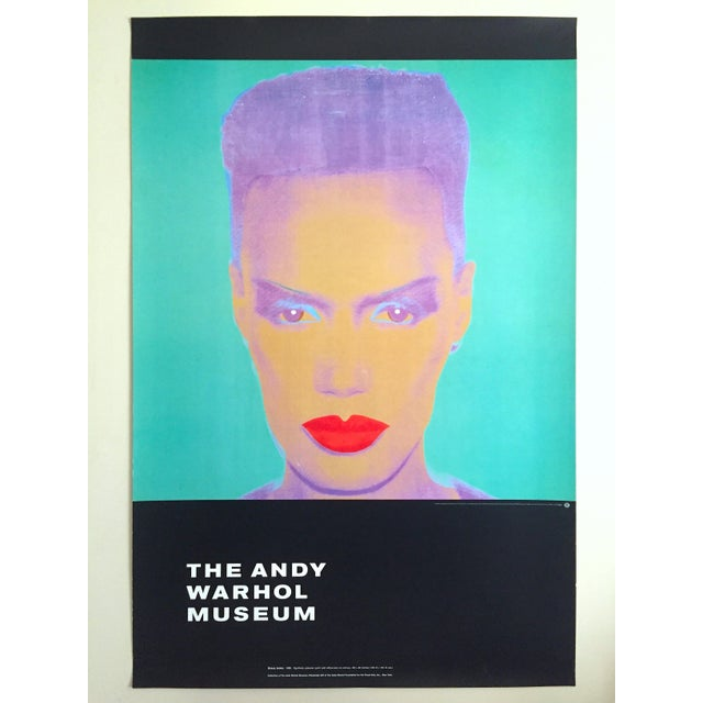 "Andy Warhol Museum Rare Lmtd Edtn Lithograph Print Monumental Pop Art Poster "" Grace Jones "" 1986 For Sale - Image 12 of 13"