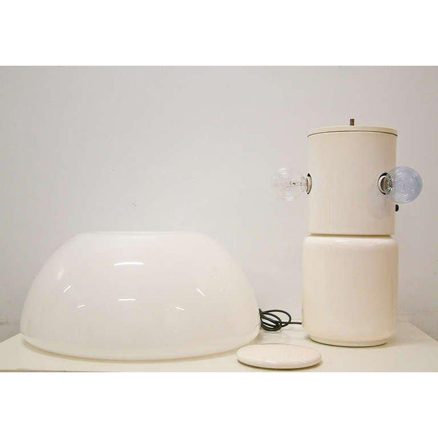 """Circa 1970 Martinelli Luce White """"Mushroom"""" Table Lamp For Sale - Image 5 of 8"""